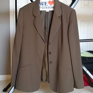 Ann Klein olive/brown women's jacket size 12